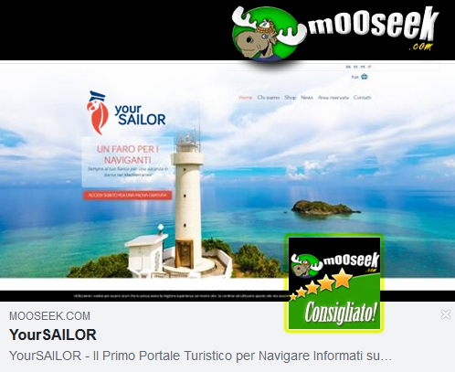 YourSailor tra i migliori siti di Mooseek.com
